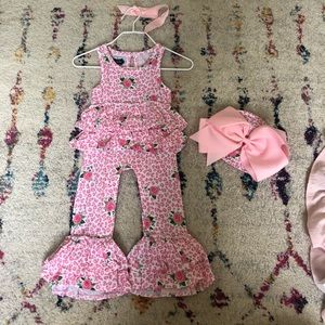 NWT Mudpie Baby Outfit